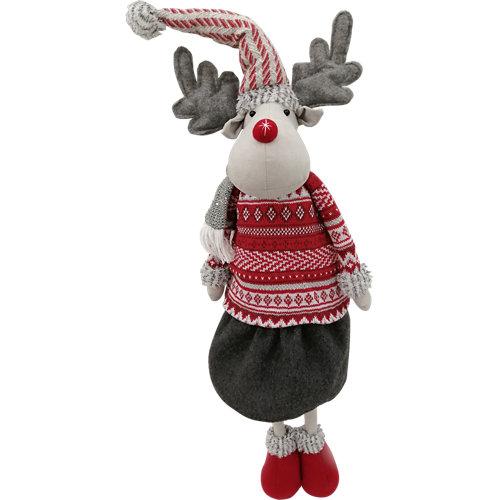 Figura navideña reno flexible 93 cm