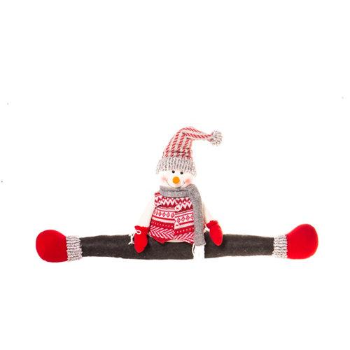 Figura navideña para puerta muñeco nieve 73 cm