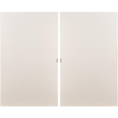 Pack 2 puertas abatibles armario lucerna blanco 30x100x1,9cm