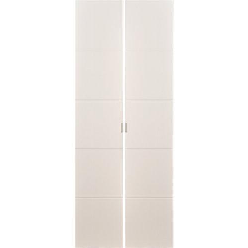 Pack 2 puertas abatibles armario lucerna blanco 30x240x1,9cm