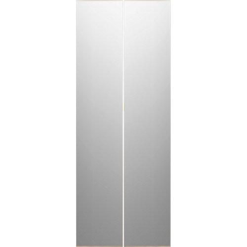 Pack 2 puertas abatibles armario doha gris 30x240x1,9 cm