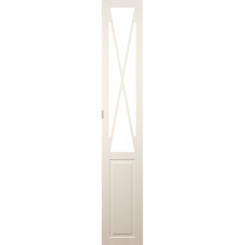 Puerta abatible para armario manila blanco 40x240x1,9 cm
