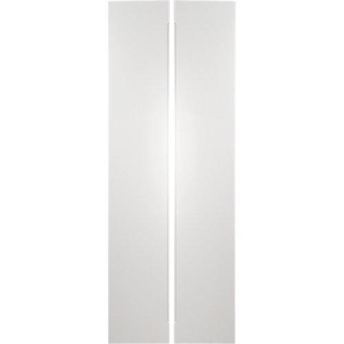 Pack 2 puertas abatibles armario osaka blanco 30x240x1,9cm