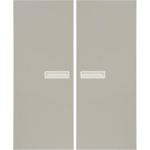 Pack 2 puertas abatibles armario tokyo gris 30x100x1,6 cm