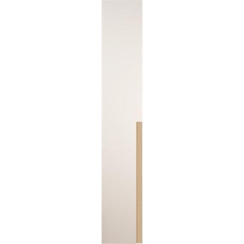 Puerta abatible de armario catar blanco y roble 40x240cm izq