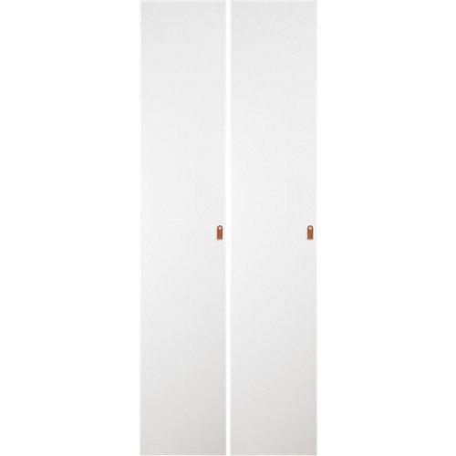 Pack 2 puertas abatibles armario macao blanco 30x240x1,9cm