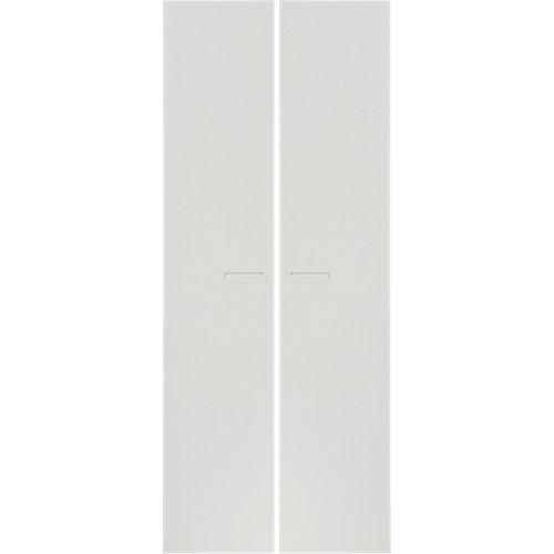 Pack 2 puertas abatibles armario tokyo blanco 30x240x1,6cm