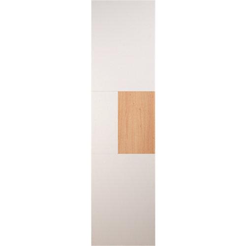 Puerta corredera armario bahréin blanco y roble 60x237x2 cm (anchoxaltoxgrosor)