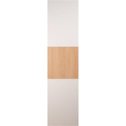 Puerta corredera de armario japón blanco y roble 80x240x2 cm