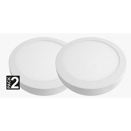 Lote 2 focos downlight redondo blanco 18w 5700k 1800lm nuva