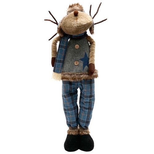 Figura navideña reno azul 107 cm