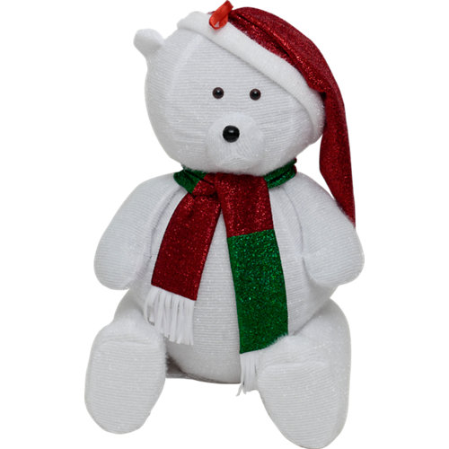 Figura de gran oso navideño 100 cm