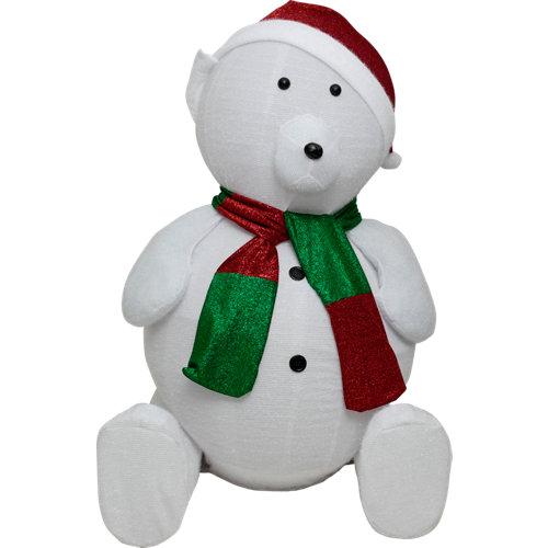 Figura de gran oso navideño 180 cm