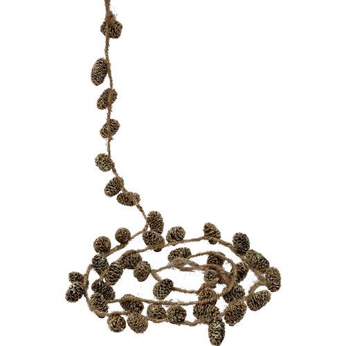 Guirnalda navideña de piñas oro 150 cm