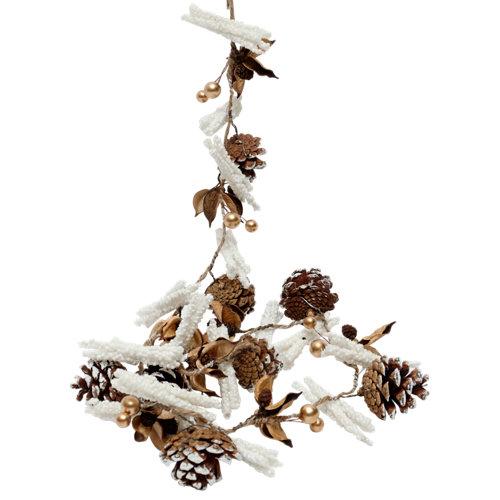 Guirnalda de navidad blanca 115 cm