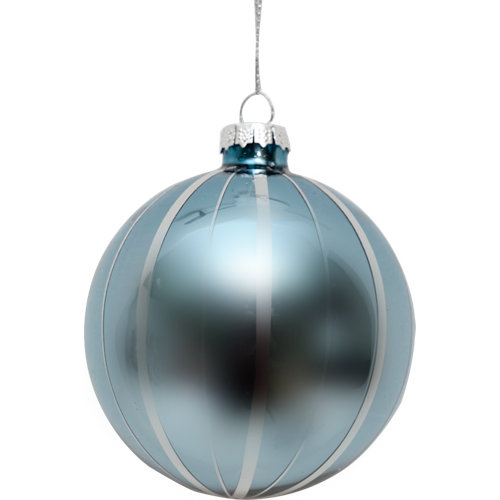 Bola de navidad 8 cm azul