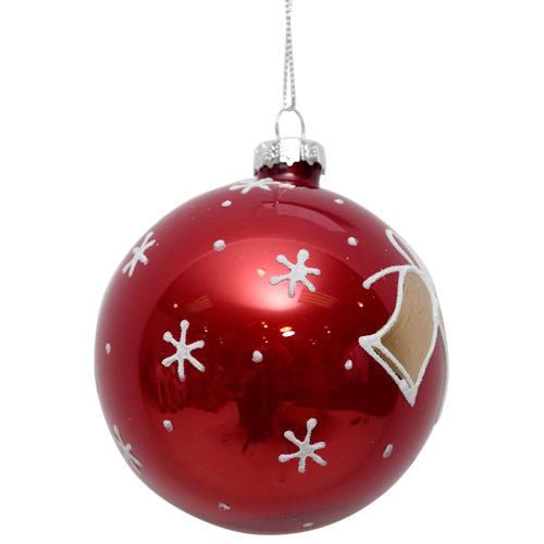 Bola de navidad campaña rojo 8 cm