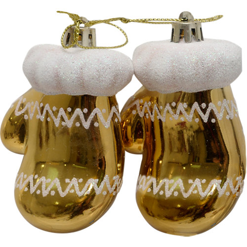 Set de 2 colgantes navidad 11 cm oro