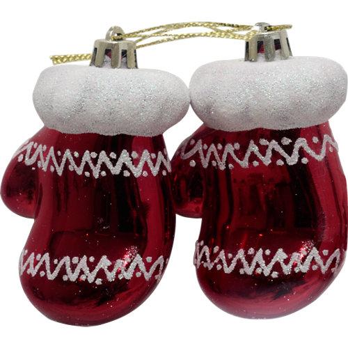 Set de 2 colgantes navidad 11 cm rojo
