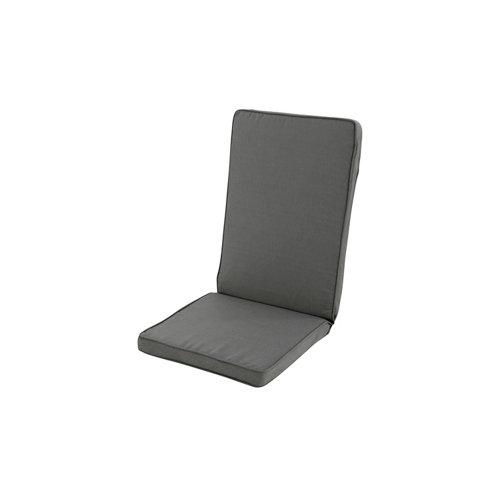 Cojín de silla alta de exterior reciclado antracita