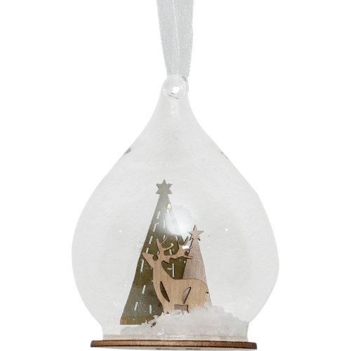 Adorno colgante cristal navidad 11 cm