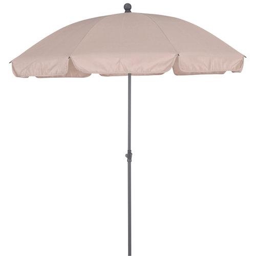 Parasol de metal naterial bigrey beige d200 cm