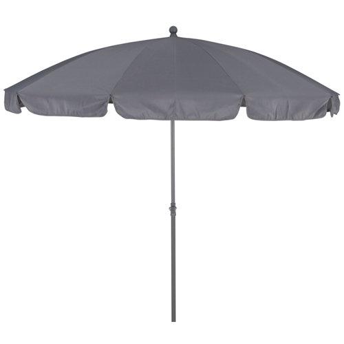 Parasol hexagonal de acero naterial bigrey gris 250x250 cm