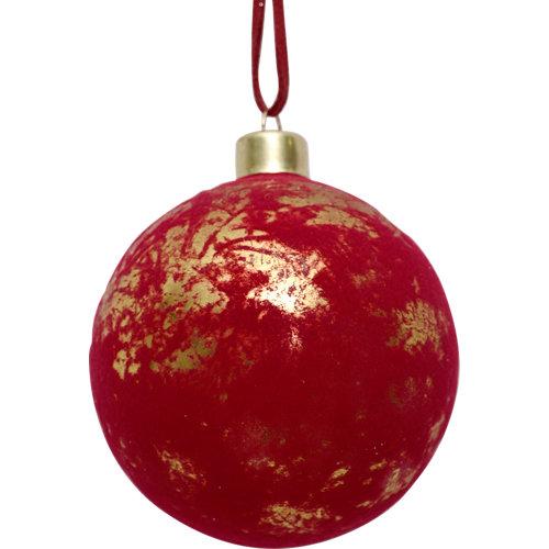Bola de navidad cristal 8 cm rojo