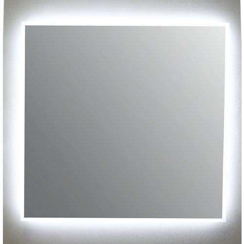 Espejo de baño con luz led nemesis 80 x 80 cm