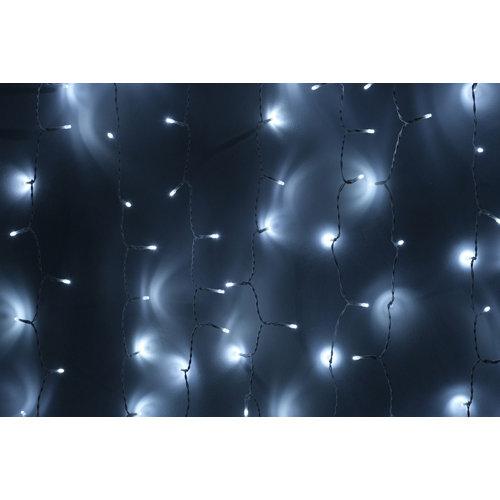 Cortina de luces 600 led 3x2 m blanco