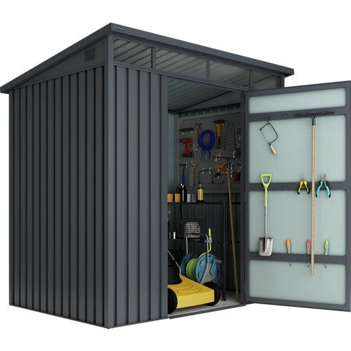 Caseta de metal huntington s (3-2,95) m2 de 197x201x146 cm y 3 m2