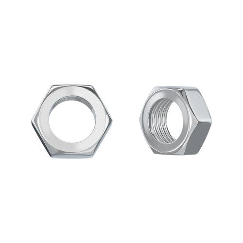 100 tuerca hexagonal de acero cincado
