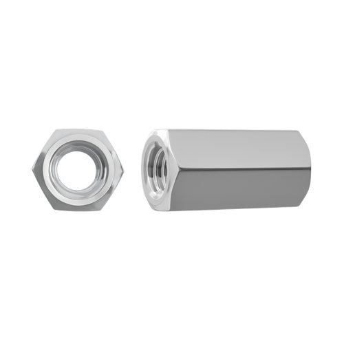 Tuerca de acero de 24mm de longitud y 8 mm de ø