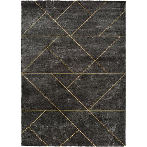 Alfombra pie de cama gris polipropileno artist 60 x 120cm