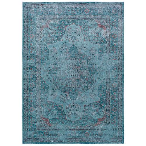 Alfombra azul viscosa lara 160 x 230cm