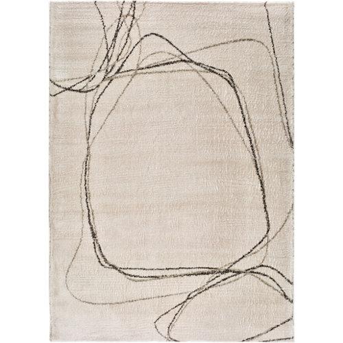 Alfombra blanca polipropileno moana 120 x 170cm