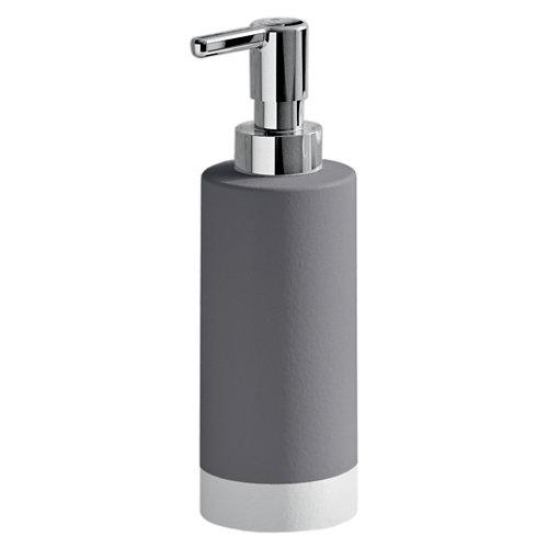 Dispensador de jabón new mizar de cerámico gris / plata