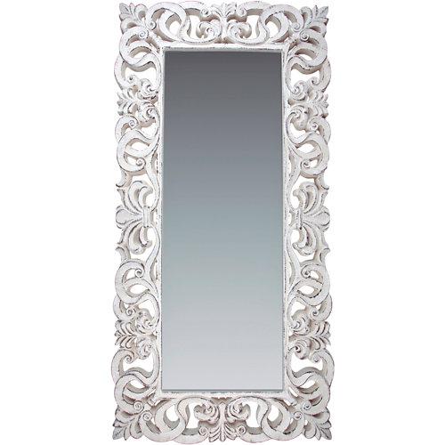 Espejo enmarcado rectangular goya piedra tabaco gris 178 x 88 cm