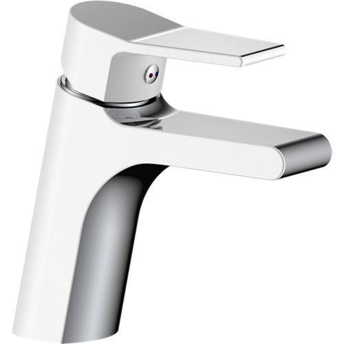 Grifo lavabo monomando eurosanit eos cromado/blanco