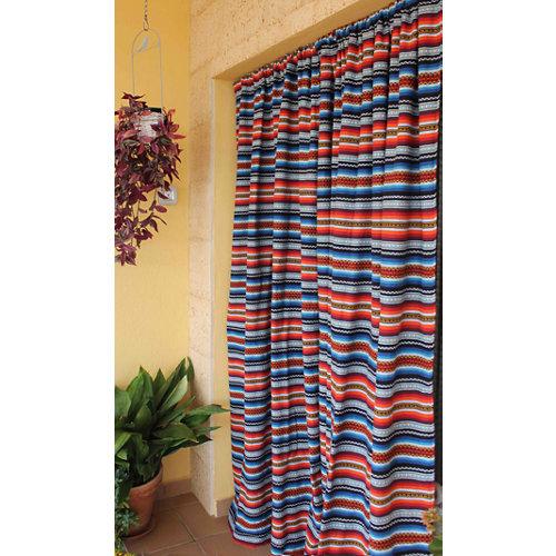 Cortina de puerta multicolor de 155 x 220 cm