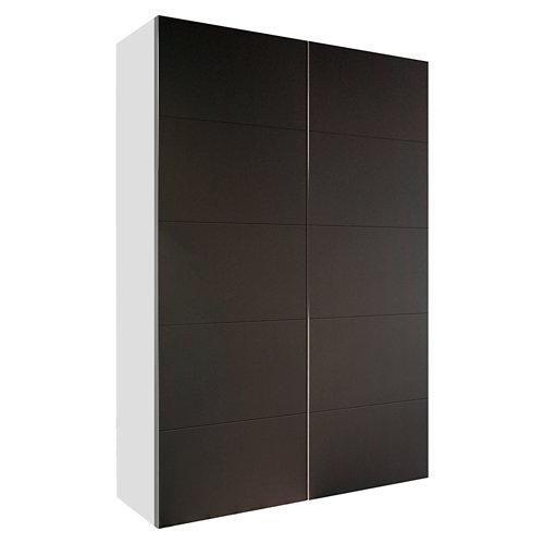 Armario spaceo home lucerna gris corredera interior blanco 240x160x60cm