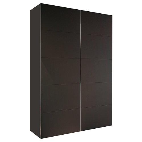 Armario spaceo home lucerna gris corredera interior gris 240x160x60cm