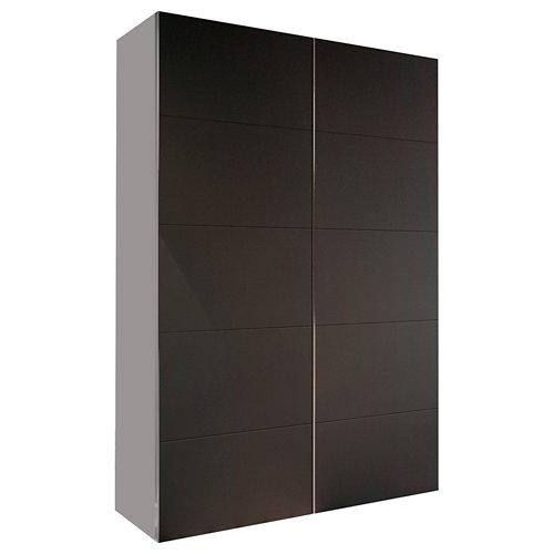 Armario spaceo home lucerna gris corredera interior textil 240x160x60cm