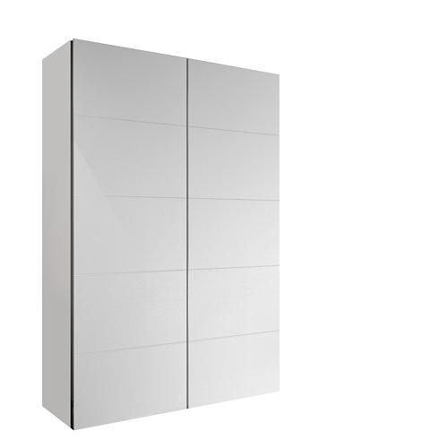 Armario spaceo home lucerna blanco corredera interior blanco 240x120x60cm