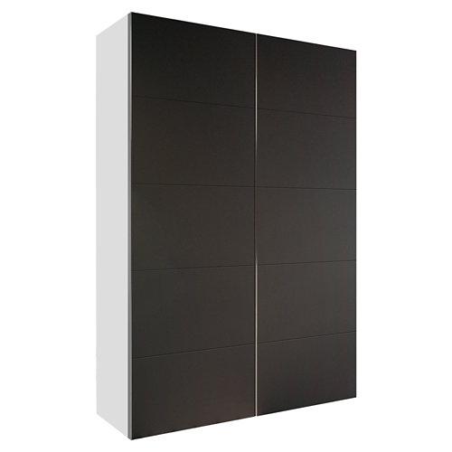 Armario spaceo home lucerna gris corredera interior blanco 240x120x60cm