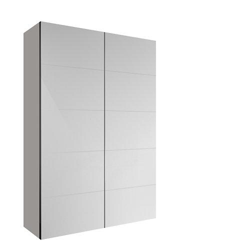 Armario spaceo home lucerna blanco corredera interior textil 240x120x60cm