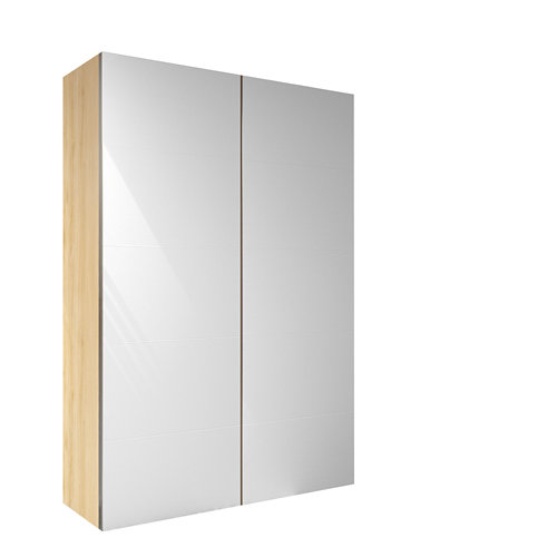Armario spaceo home lucerna blanco corredera interior roble 240x120x60cm
