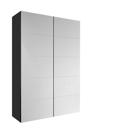 Armario spaceo home lucerna blanco corredera interior gris 240x120x60cm