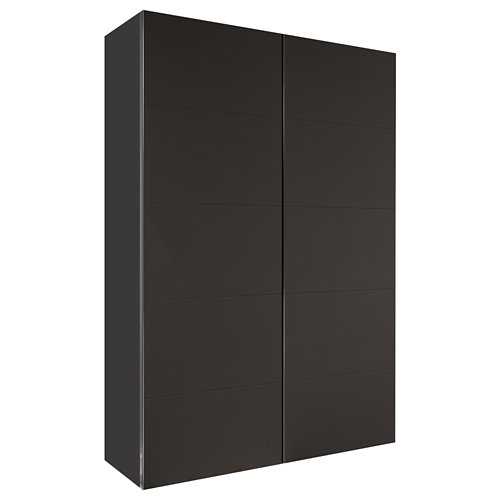 Armario spaceo home lucerna gris corredera interior gris 240x120x60cm