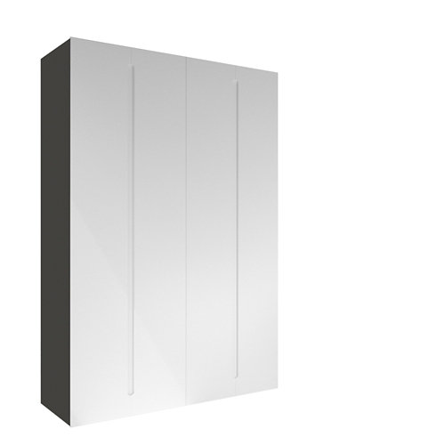 Armario spaceo home osaka blanco abatible interior gris 240x160x60cm